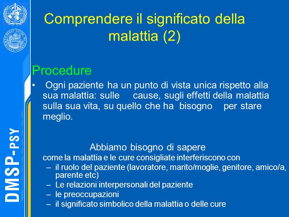 Comprendere il significato della malattia (2)