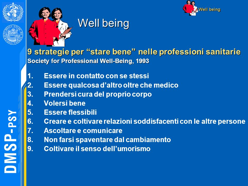 Well being 9 strategie per stare bene nelle professioni sanitarie