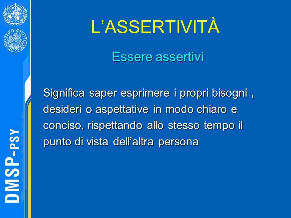 L'ASSERTIVITÀ Essere assertivi