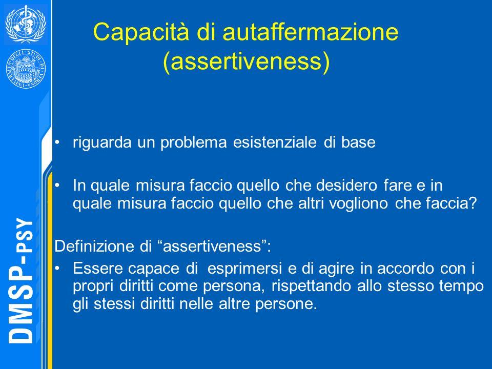 Capacità di autaffermazione (assertiveness)