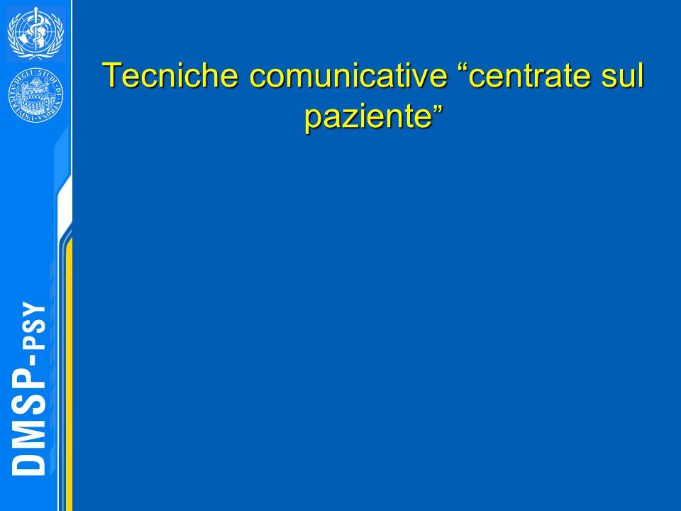 Tecniche comunicative centrate sul paziente