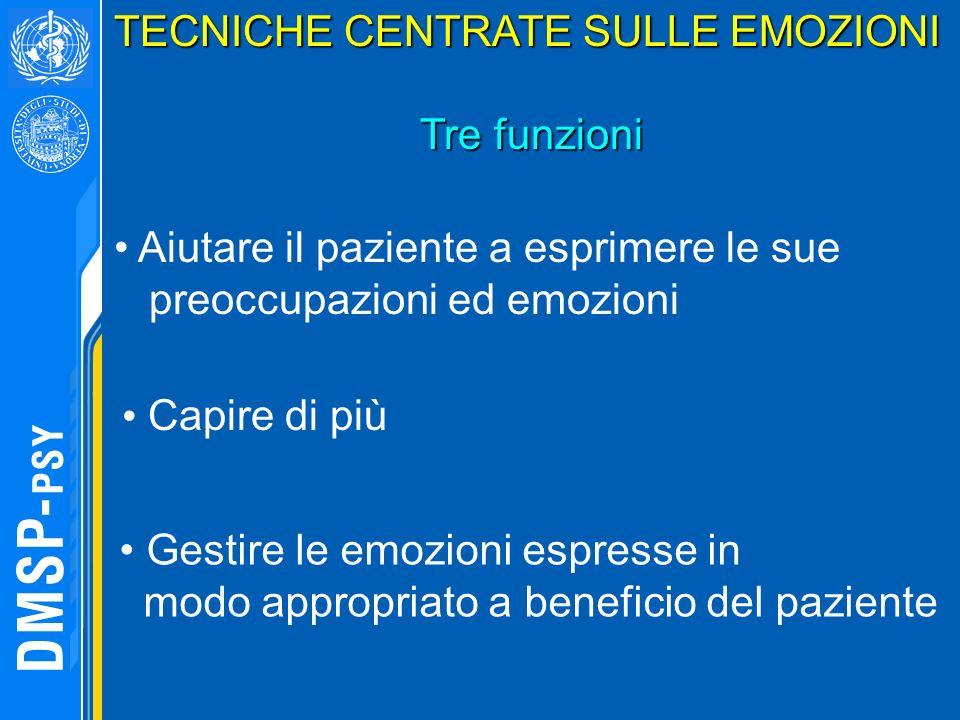 TECNICHE CENTRATE SULLE EMOZIONI
