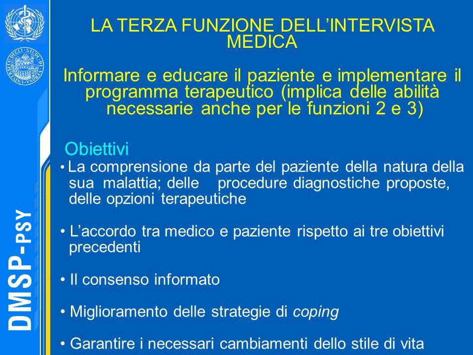 LA TERZA FUNZIONE DELL'INTERVISTA MEDICA