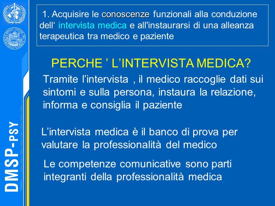 PERCHE ' L'INTERVISTA MEDICA
