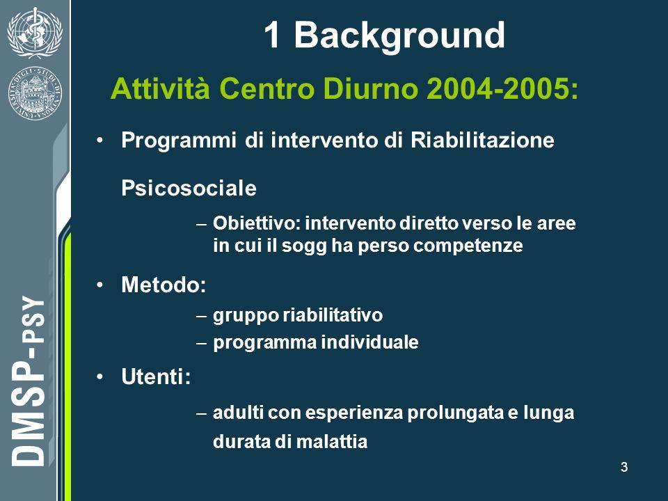 Attività Centro Diurno 2004-2005: