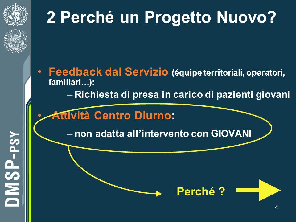2 Perché un Progetto Nuovo
