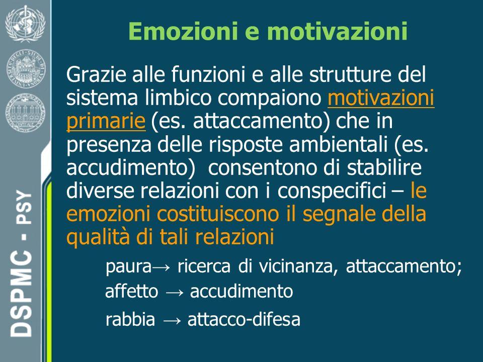 Emozioni e motivazioni