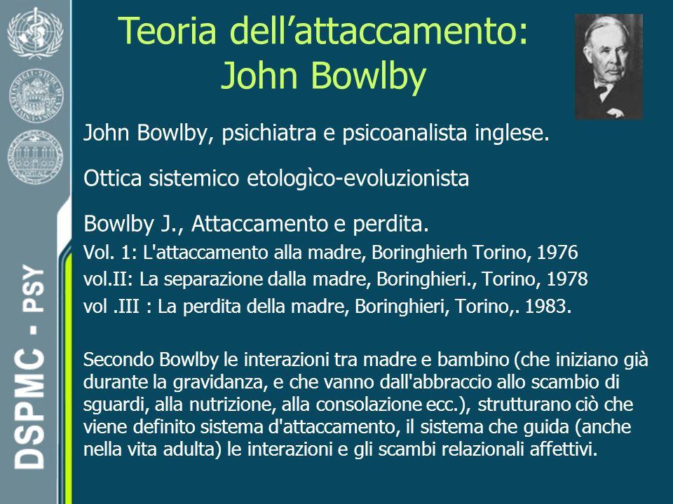 Teoria dell'attaccamento: John Bowlby