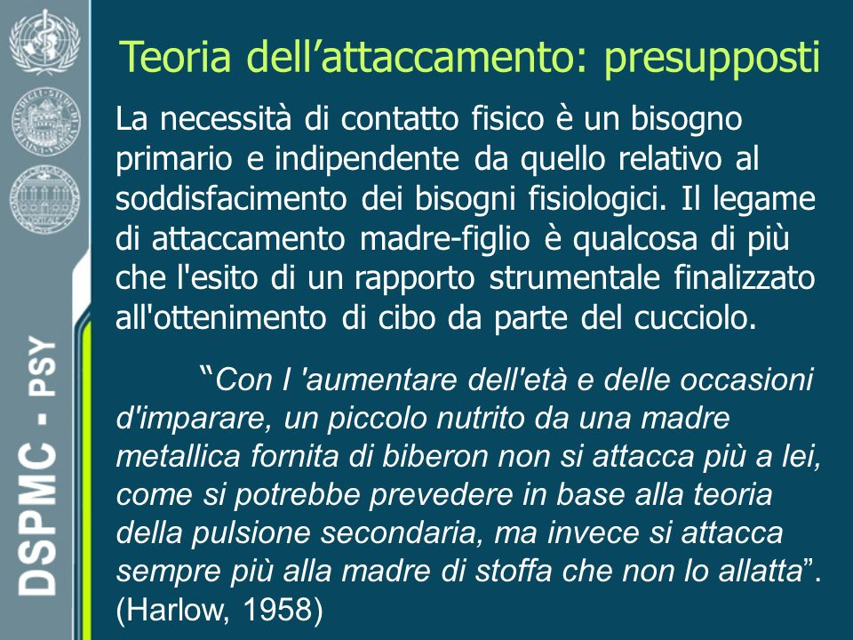 Teoria dell'attaccamento: presupposti