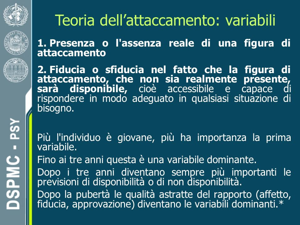 Teoria dell'attaccamento: variabili