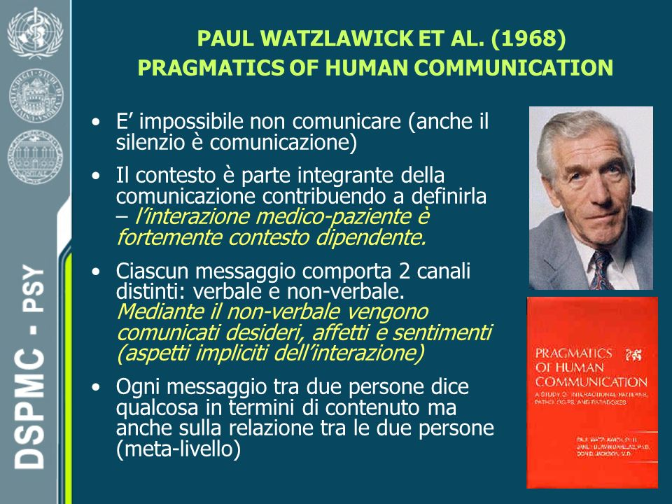 PAUL WATZLAWICK ET AL. (1968) PRAGMATICS OF HUMAN COMMUNICATION