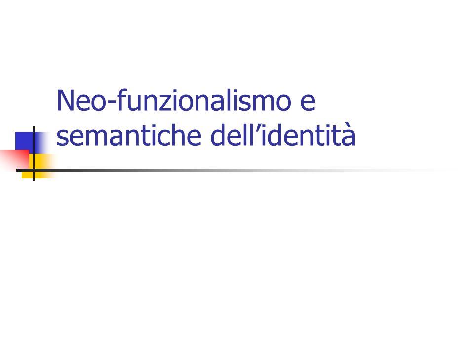 Neo-funzionalismo e semantiche dell'identità