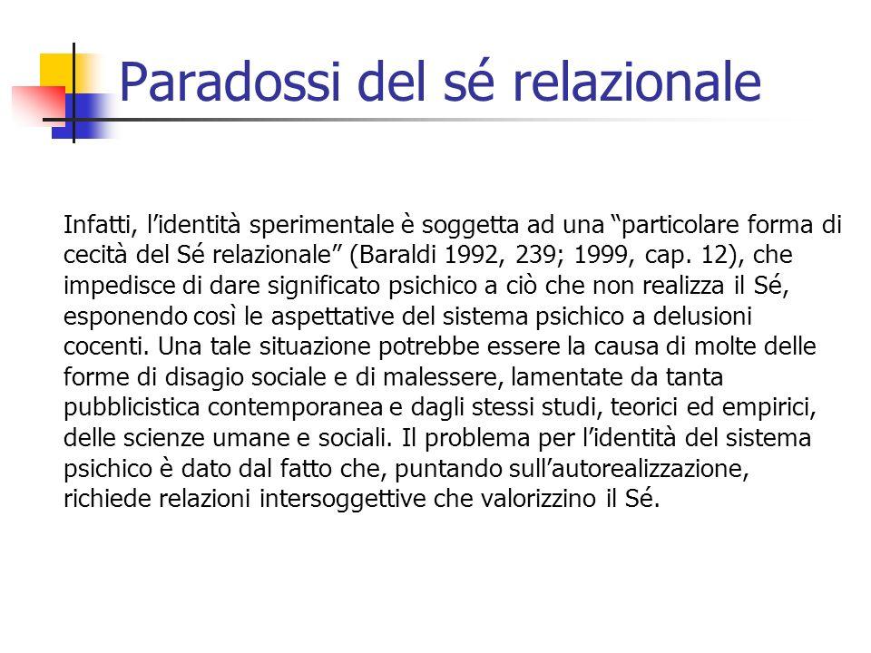 Paradossi del sé relazionale