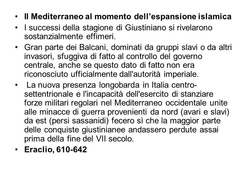 Il Mediterraneo al momento dell'espansione islamica