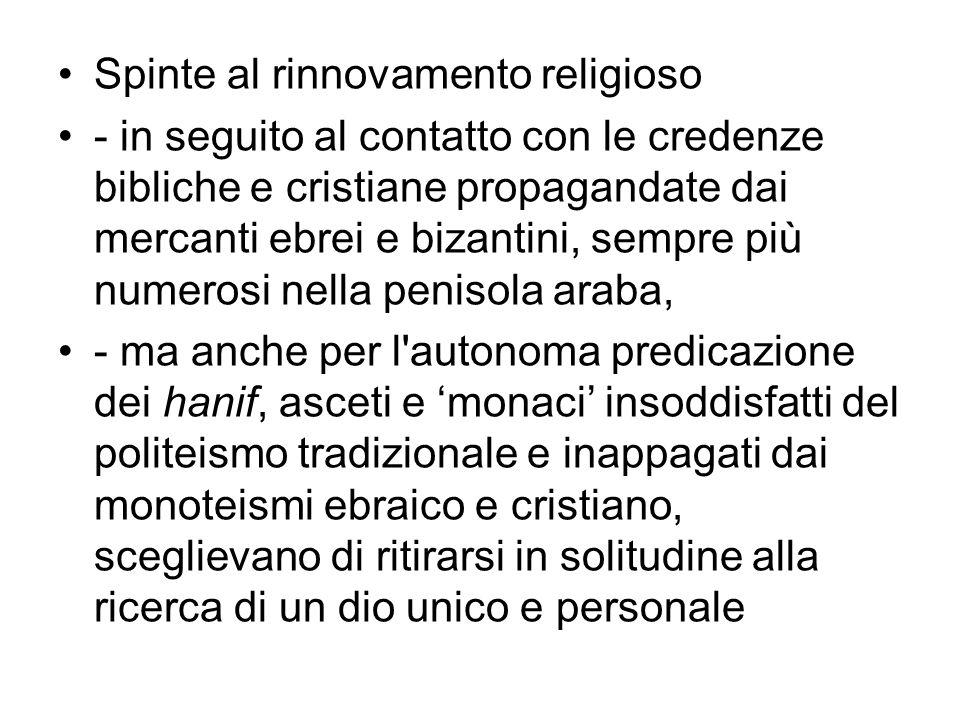 Spinte al rinnovamento religioso