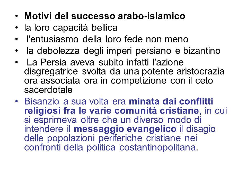 Motivi del successo arabo-islamico