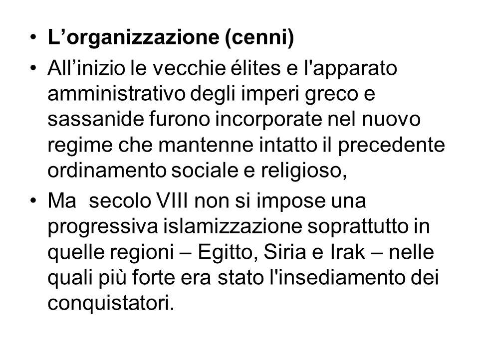 L'organizzazione (cenni)