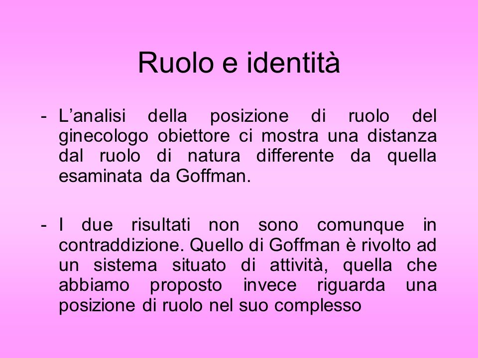 Ruolo e identità