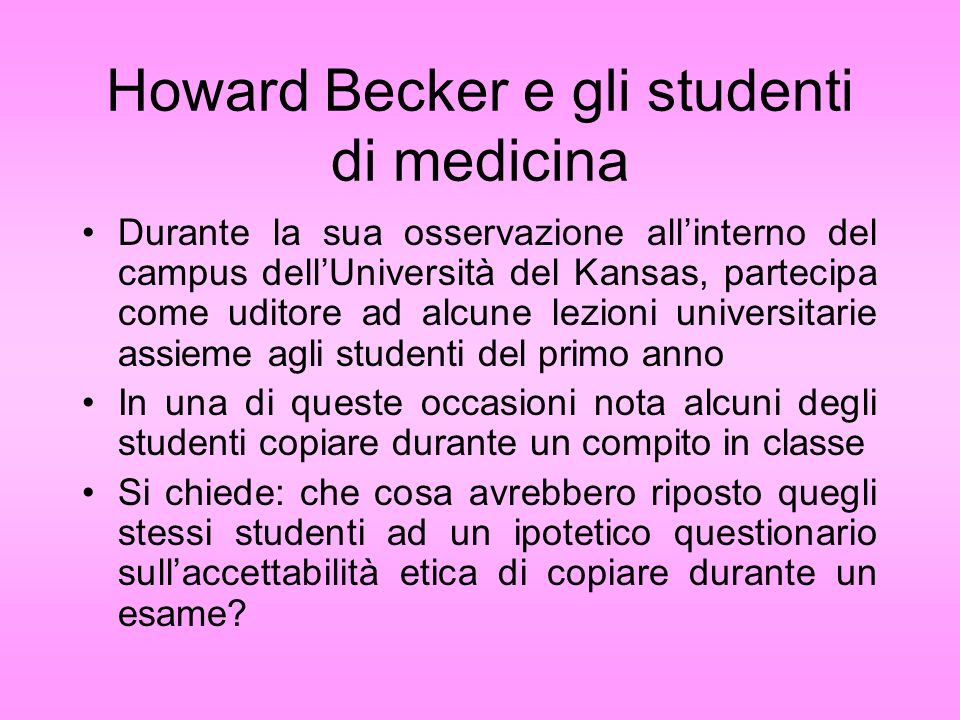 Howard Becker e gli studenti di medicina