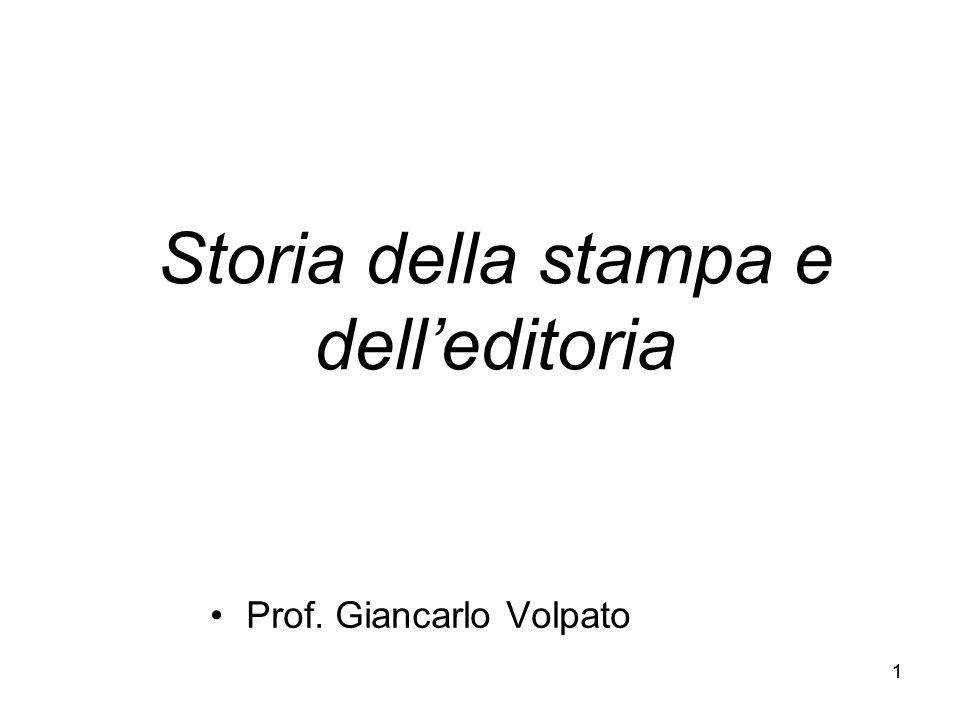 Storia della stampa e dell'editoria