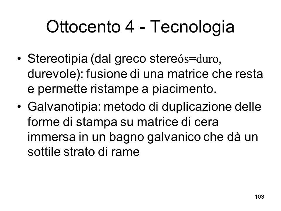 Ottocento 4 - Tecnologia