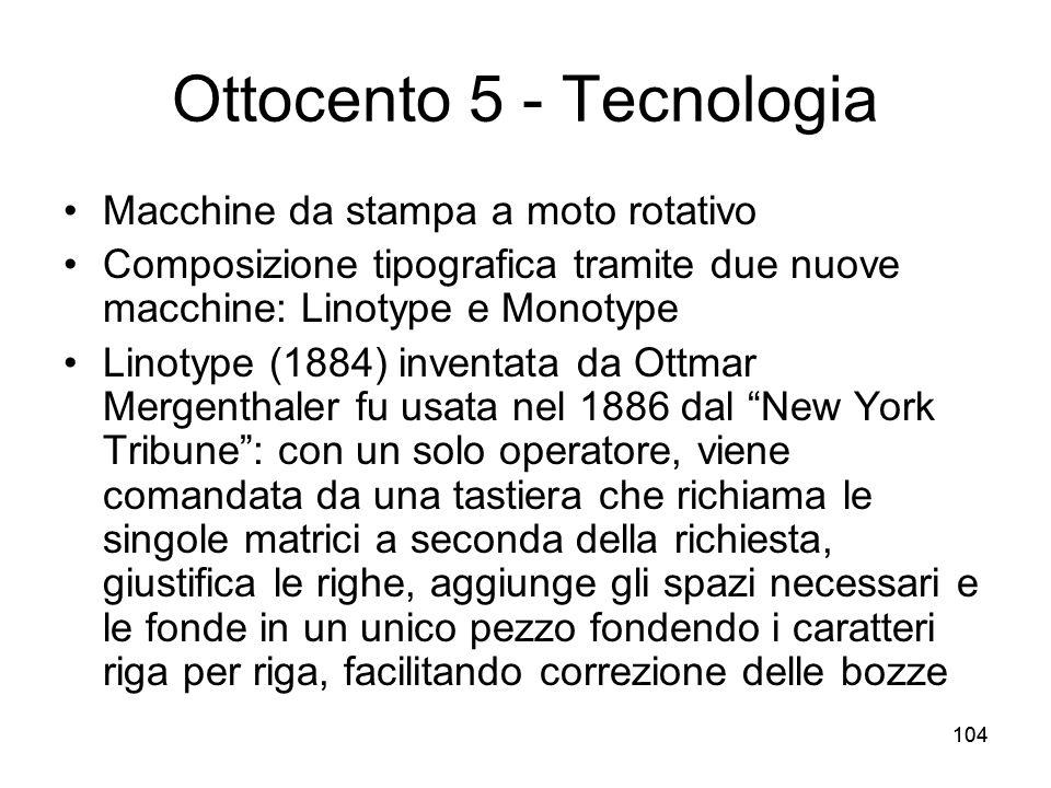 Ottocento 5 - Tecnologia