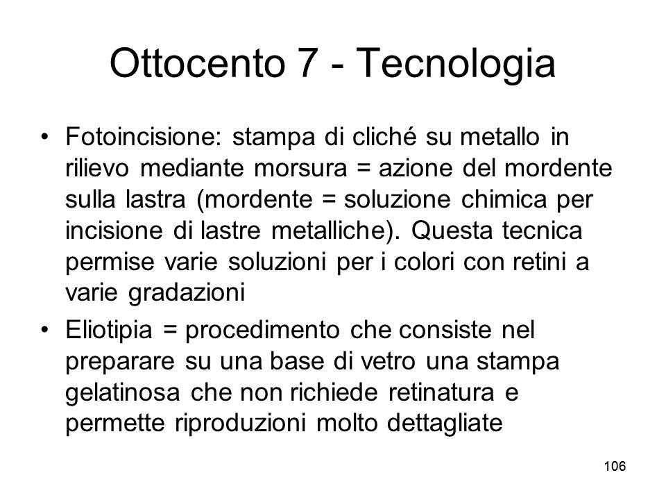 Ottocento 7 - Tecnologia