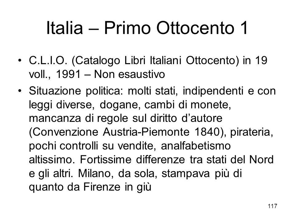 Italia – Primo Ottocento 1