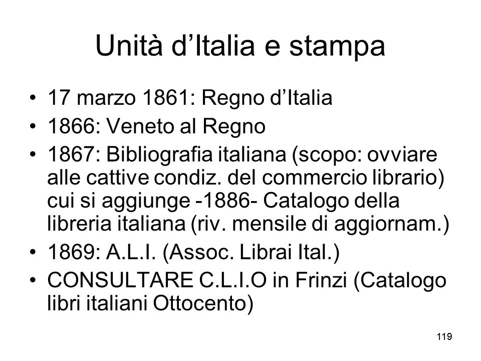 Unità d'Italia e stampa