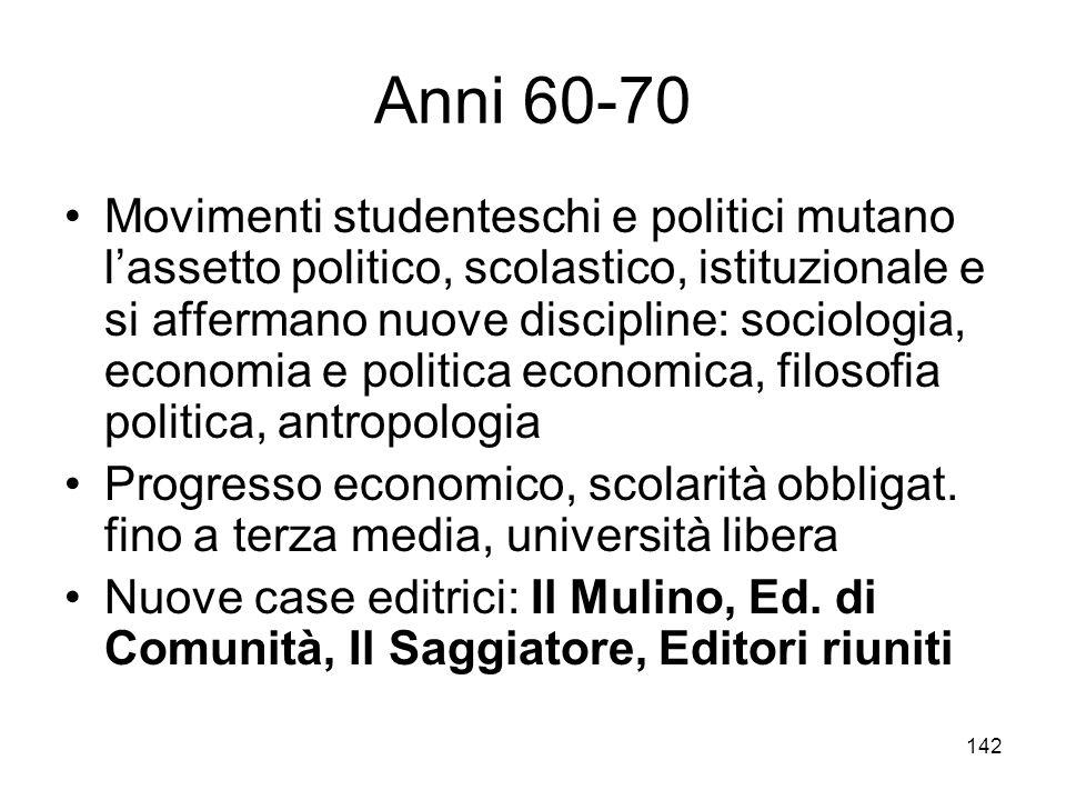 Anni 60-70