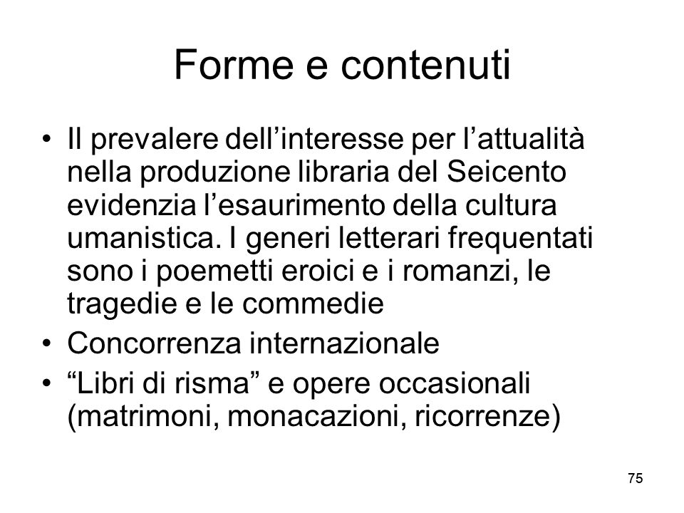 Forme e contenuti