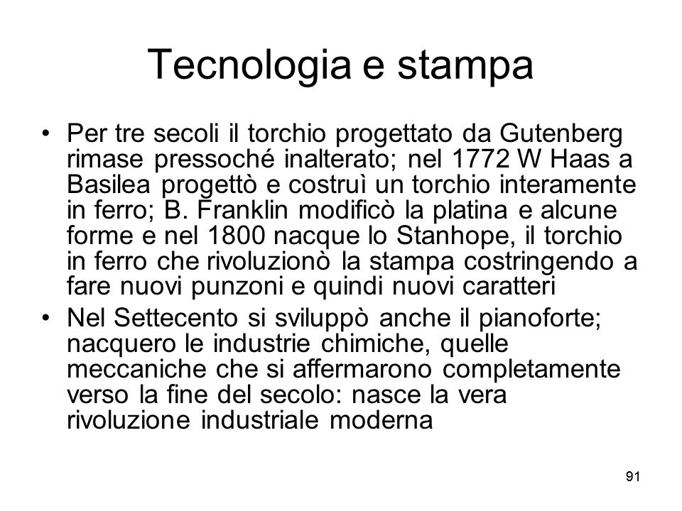 Tecnologia e stampa