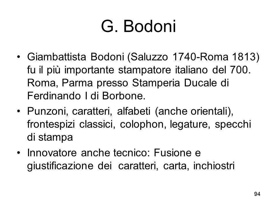 G. Bodoni