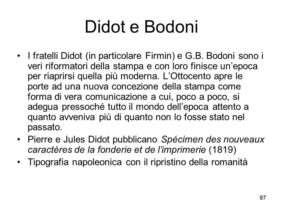 Didot e Bodoni