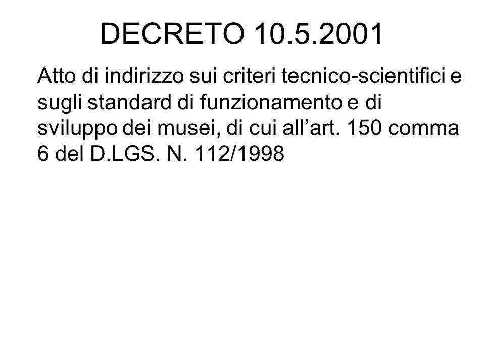 DECRETO 10.5.2001