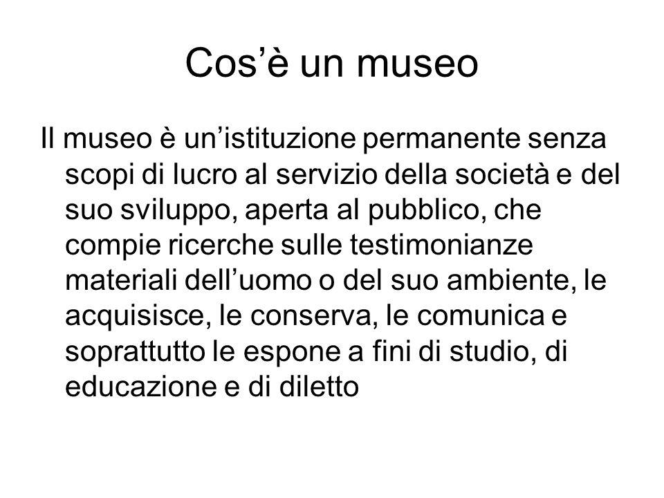 Cos'è un museo