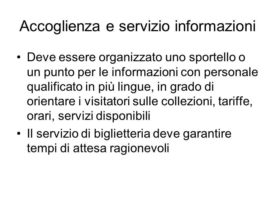 Accoglienza e servizio informazioni