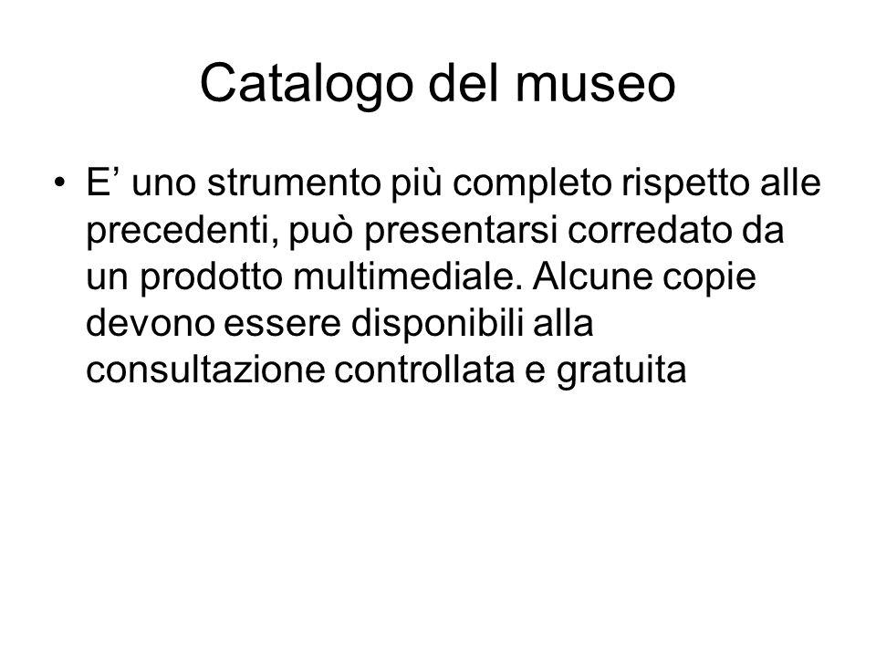Catalogo del museo