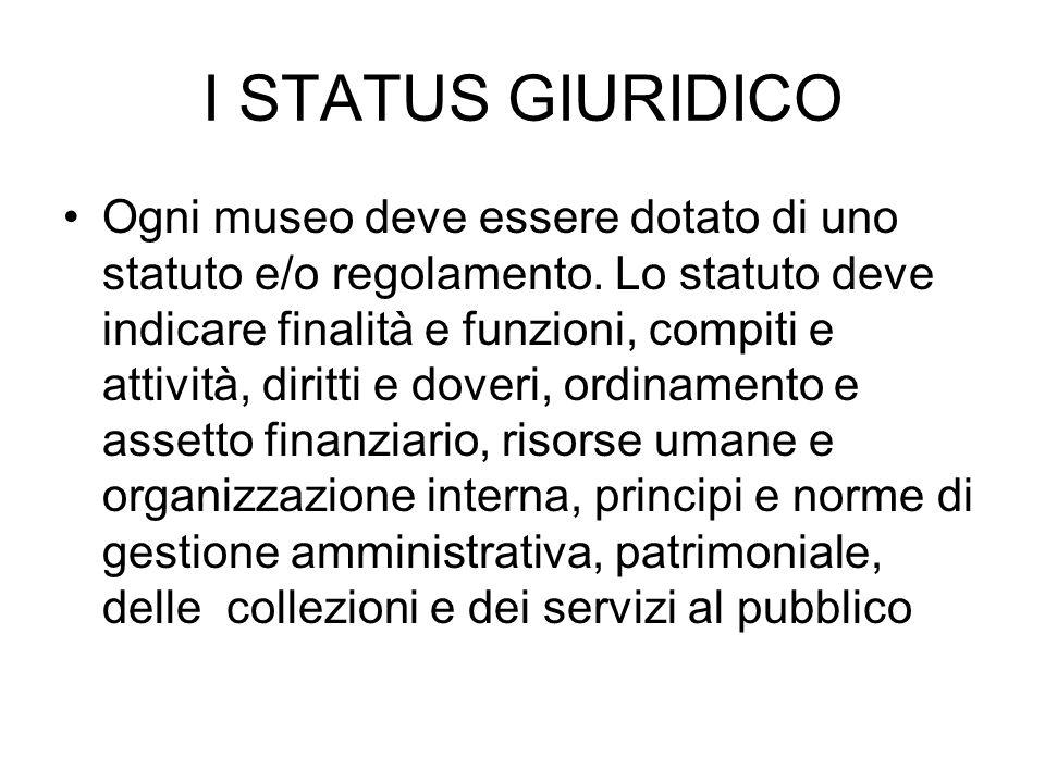 I STATUS GIURIDICO
