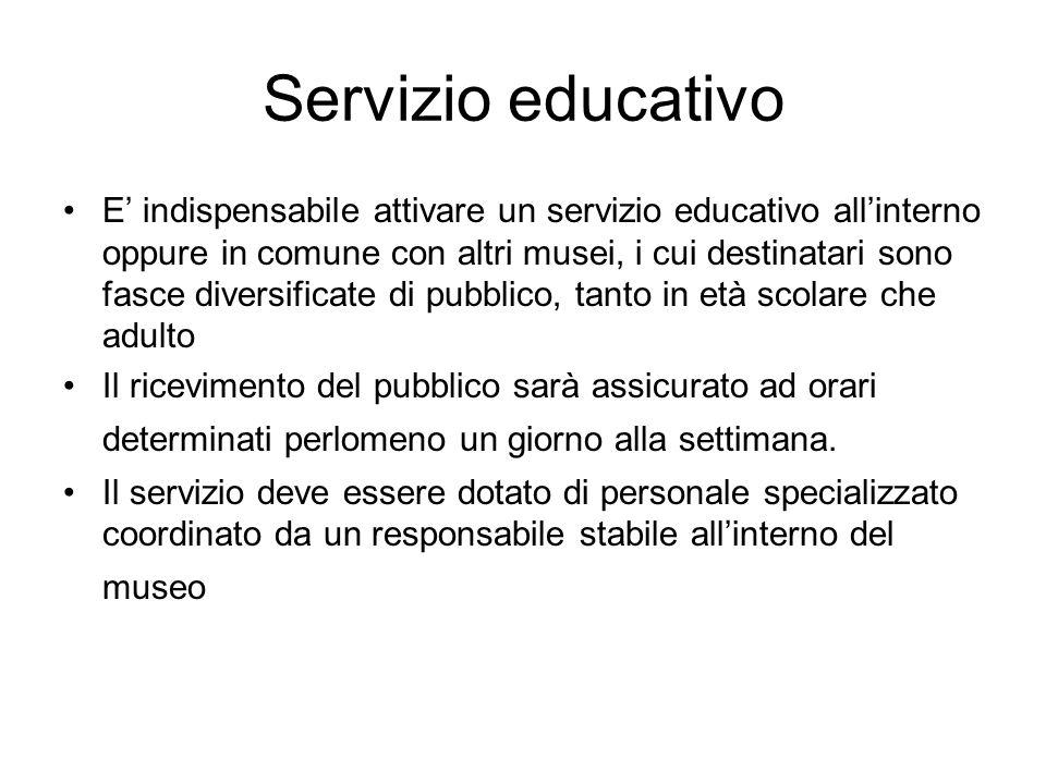 Servizio educativo