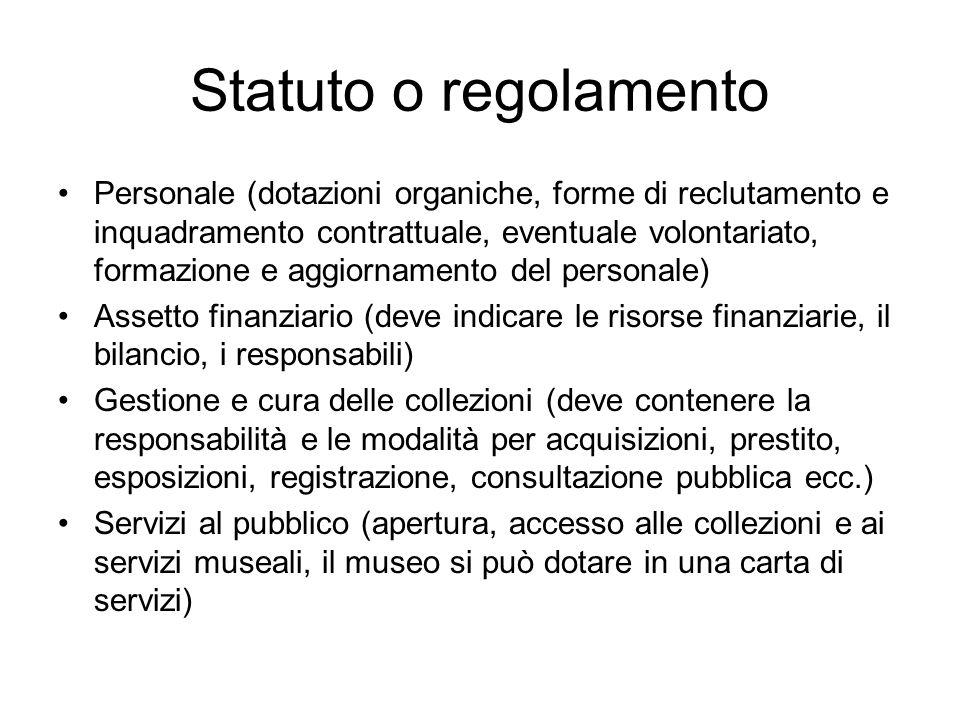 Statuto o regolamento