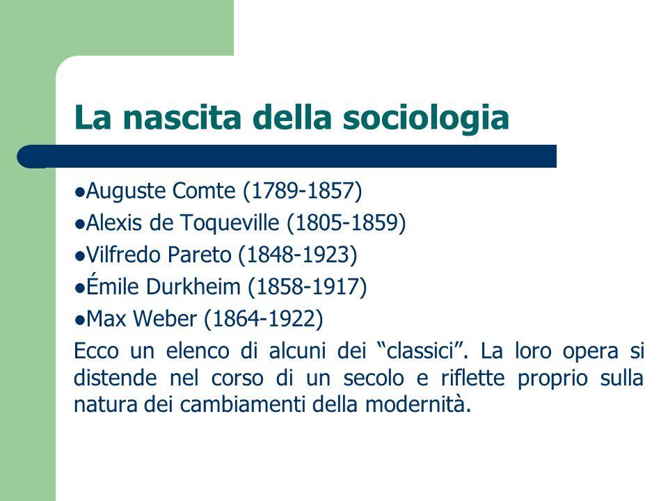 La nascita della sociologia