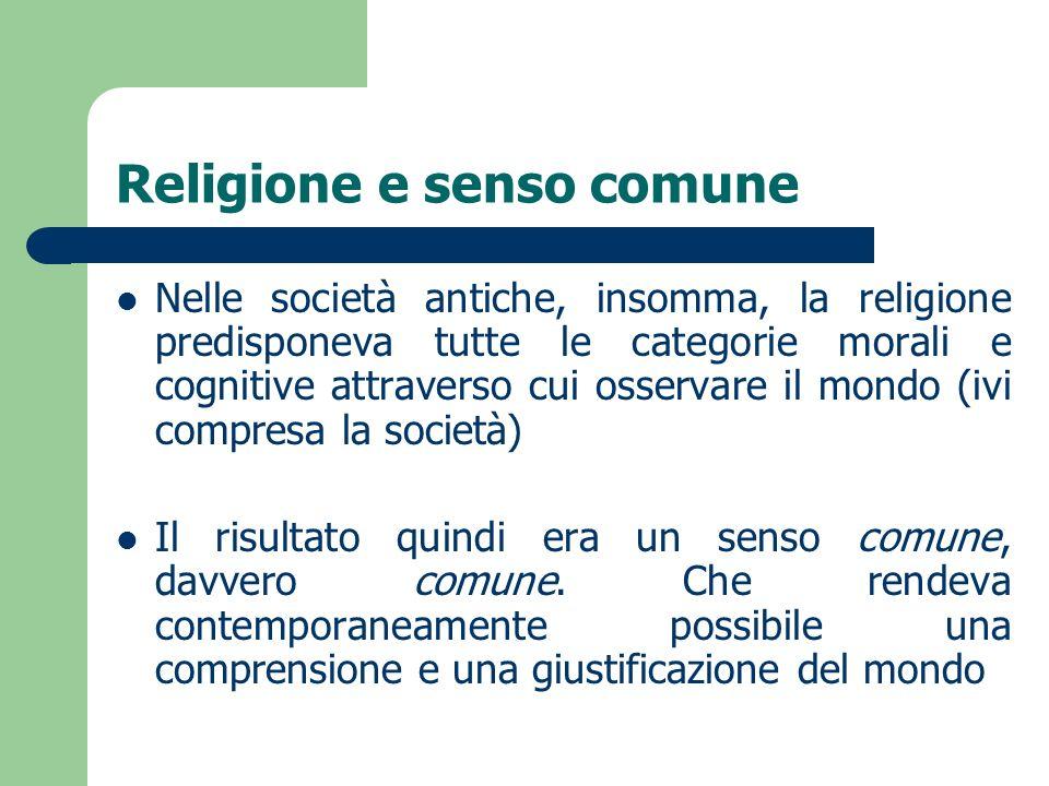 Religione e senso comune