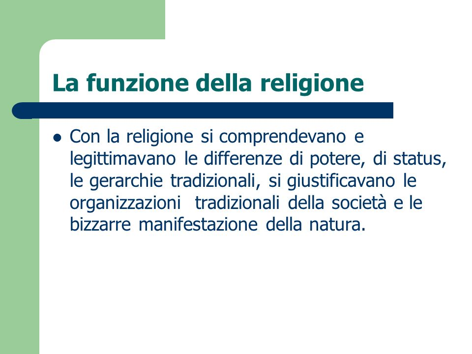 La funzione della religione
