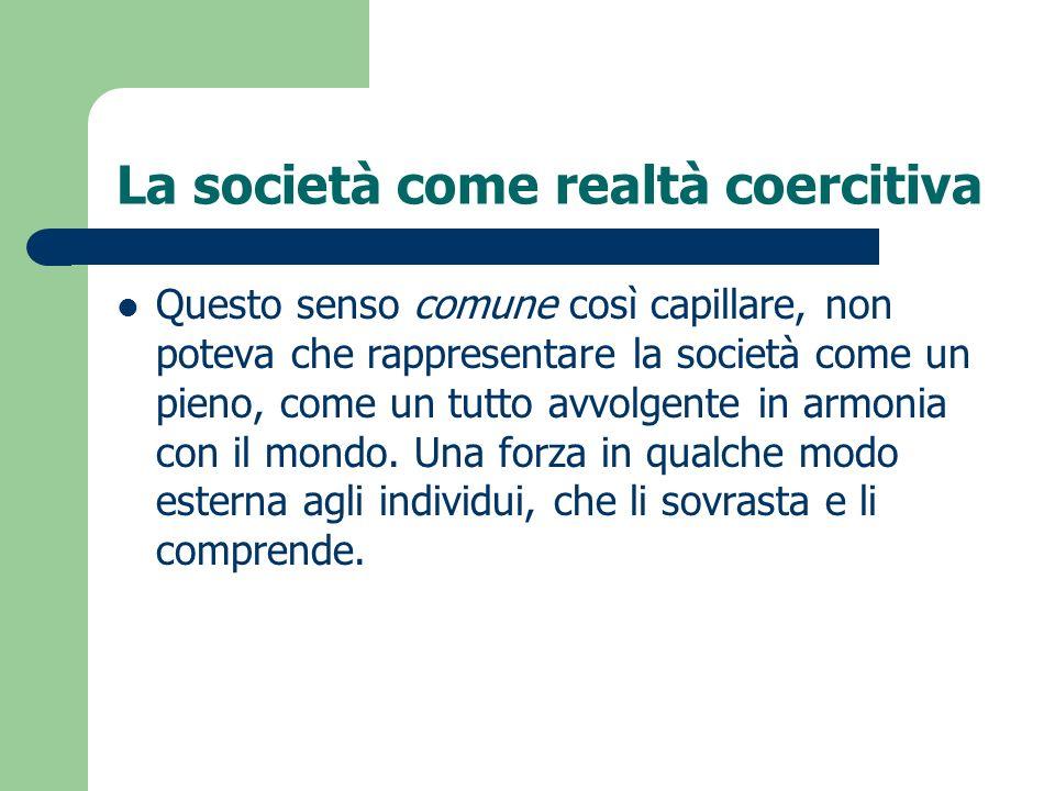 La società come realtà coercitiva
