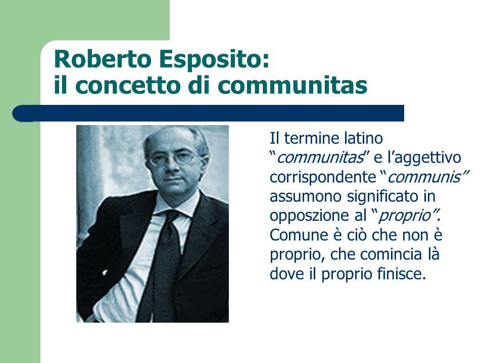 Roberto Esposito: il concetto di communitas