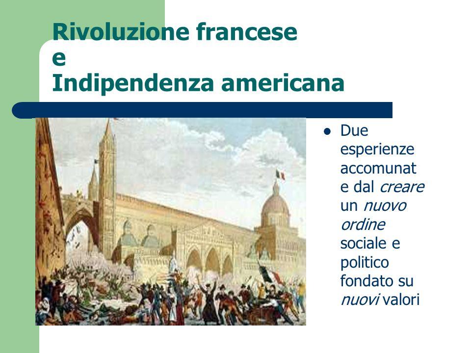 Rivoluzione francese e Indipendenza americana