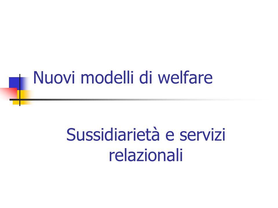 Nuovi modelli di welfare
