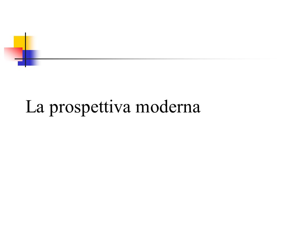 La prospettiva moderna