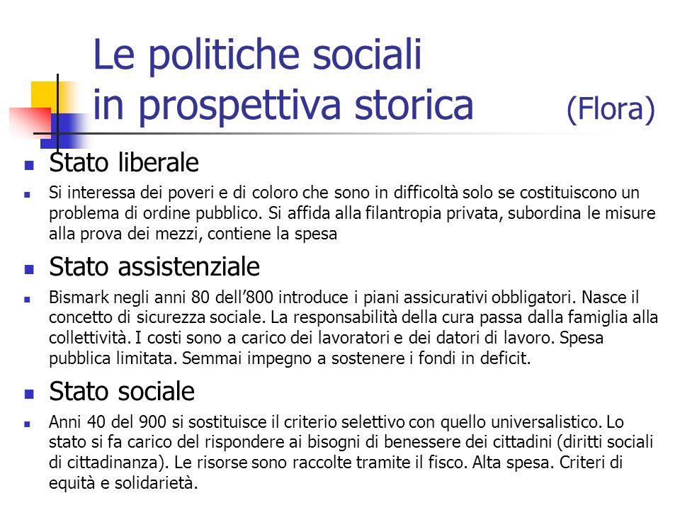 Le politiche sociali in prospettiva storica (Flora)